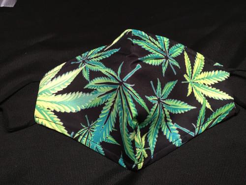 Mask - Black - Cannabis - M