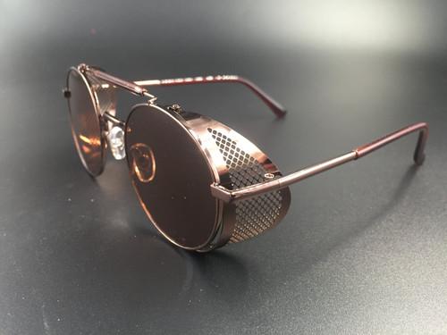 Steampunk bril Scherlock - bruin/bruin