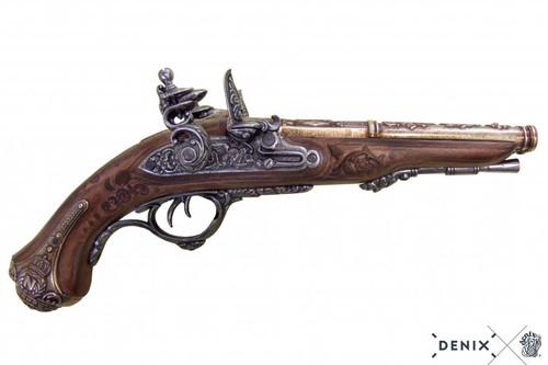 Denix Napoleon's Double Barrel Flintlock Pistol - France - 1806