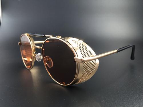 Steampunk bril sherlock - goud/bruin