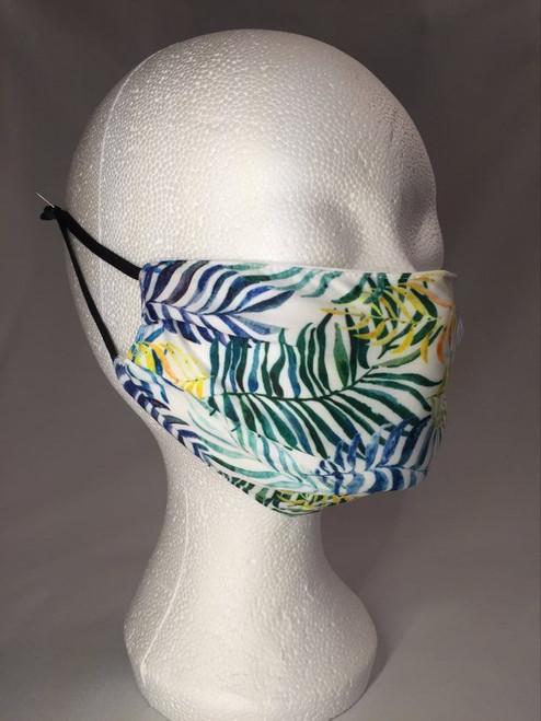 Mask - White - Summer Ferns - M