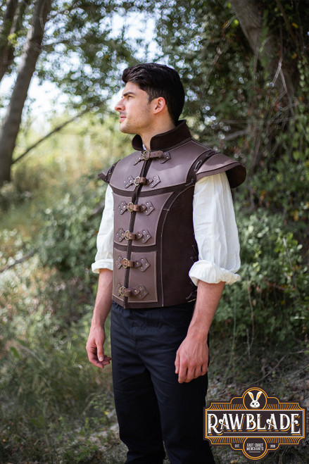 Jittu Jan Armoured Jerkin - Brown