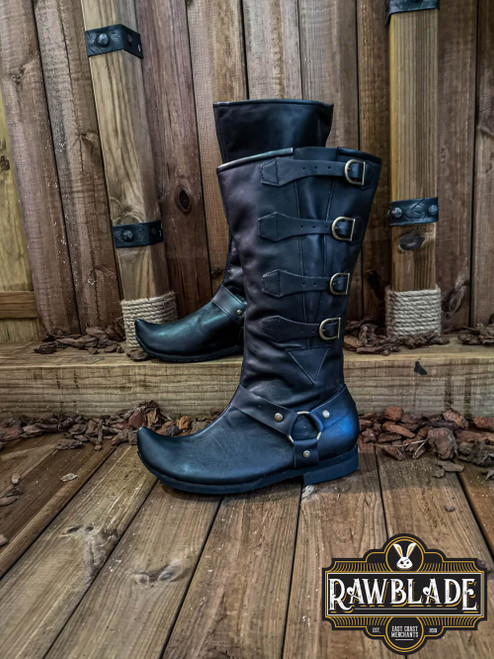 Jarek Cavalry Boots - Black by [product_brand] for €169.3 | Shop on Avothea Store