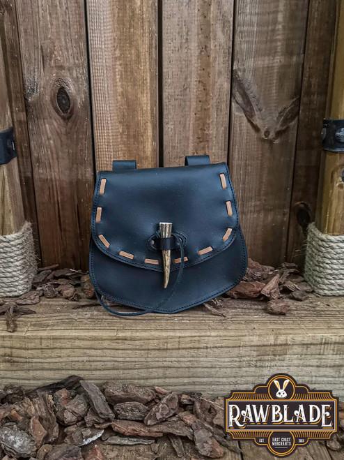 Cymerian Leather Bag - Black