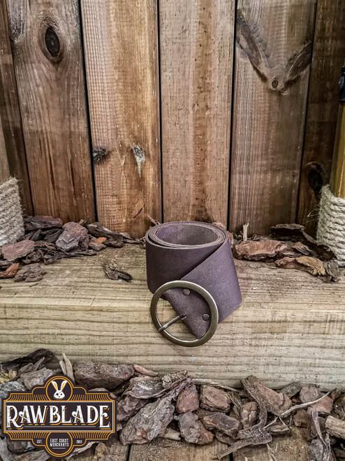 Albura Round buckle Belt - Brown
