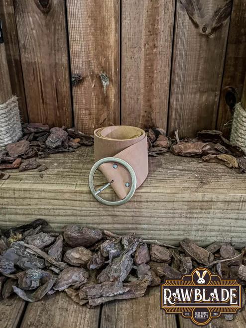 Albura Round buckle Belt - Light Brown
