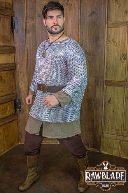 Normandy  Chainmail Aluminium - Flat Ring Riveted