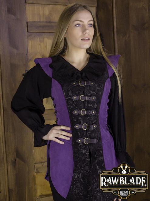 Ylenne Deluxe long Doublet - Black/Purple