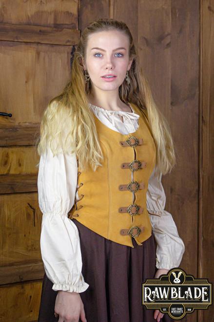 Julienne Leather Jerkin Short - Light Brown