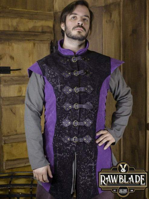 Yalon, long jerkin Deluxe - Purple