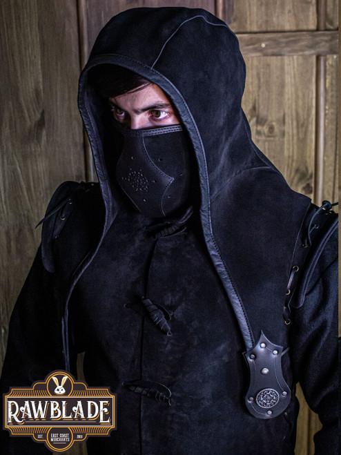 Akku splitleather hood - Black