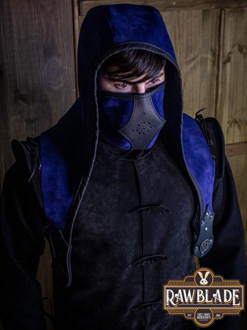 Akku splitleather hood - Blue