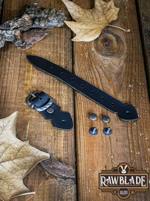 Strip with buckle - black and Steel