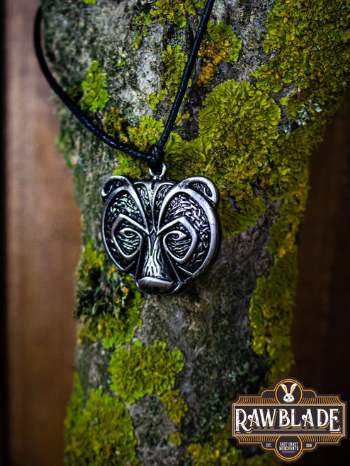 Bear Clan Pendant - Steel