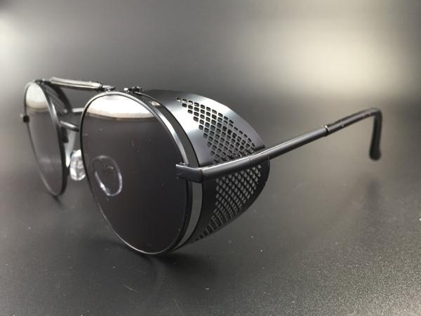 Steampunk bril Scherlock - zwart/zwart