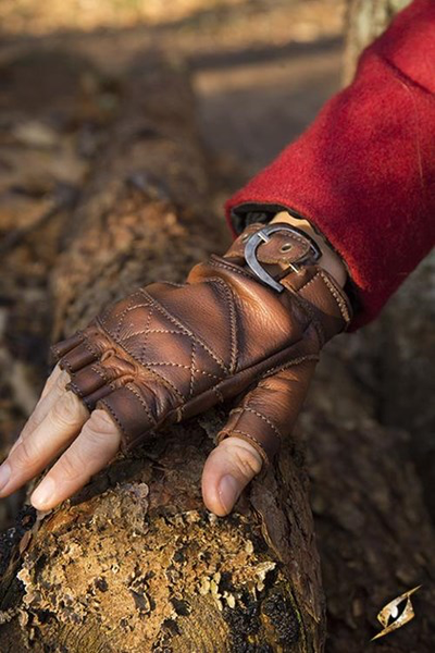 Celtic Gloves Leather - Brown