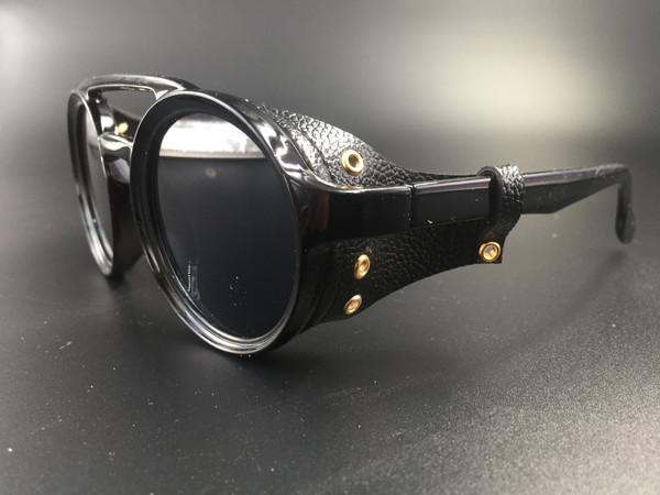 Steampunk bril Helsing - zwart/zwart
