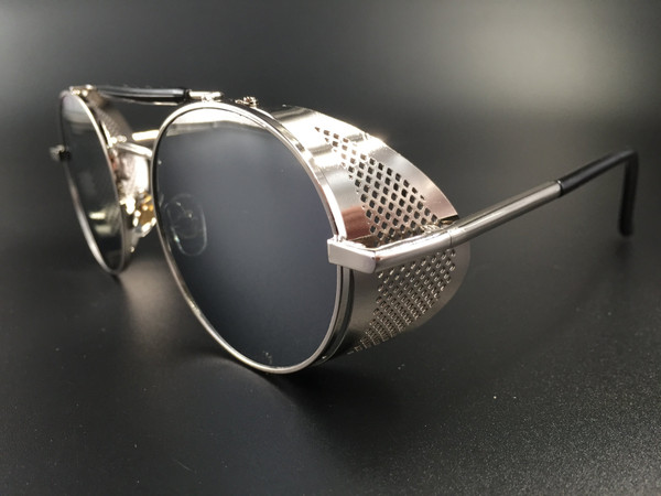 Steampunk bril Scherlock - zilver/zilver