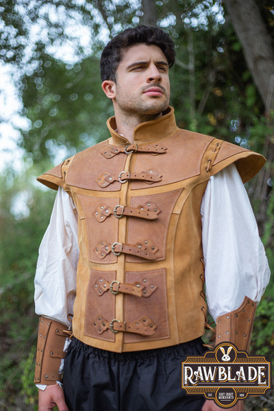 Jittu Jan Armoured Jerkin - Light brown