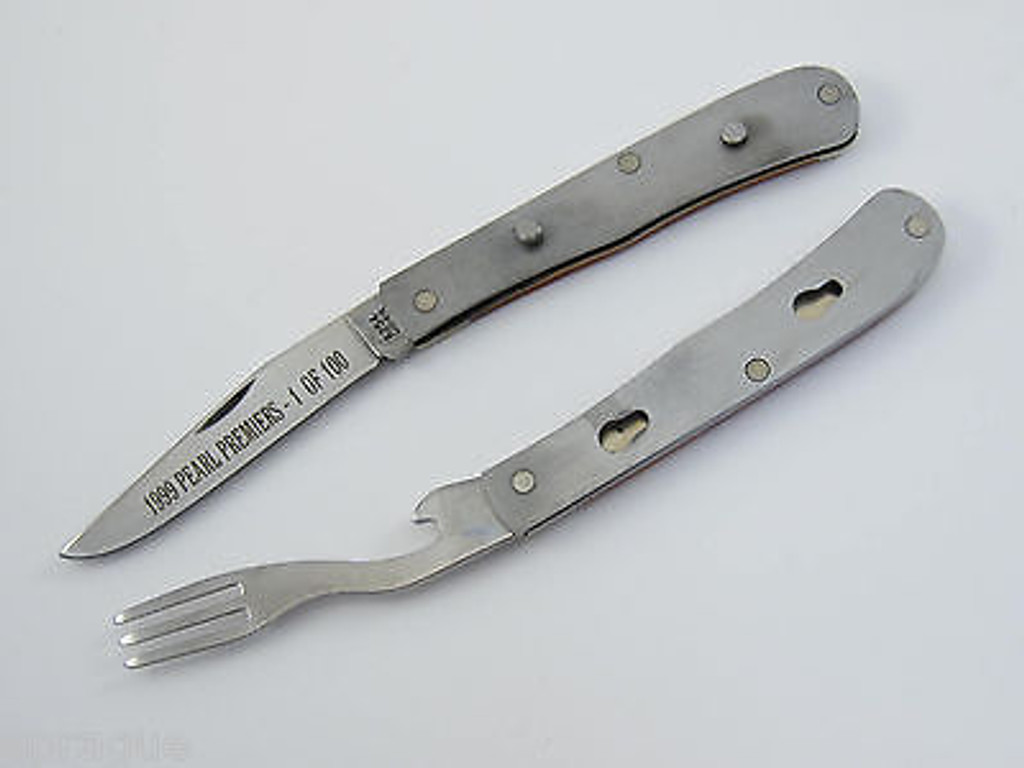 1999 CASE XX 6254 PEARL PREMIERS LIMITED 1 OF 100 BONE HOBO TRAPPER KNIFE TIN