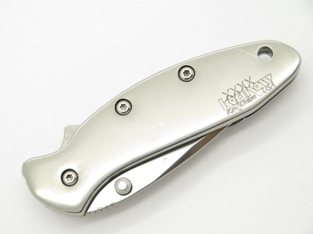 2003 KERSHAW 1600 1600SS STAINLESS CHIVE ONION SMALL FOLDING POCKET KNIFE