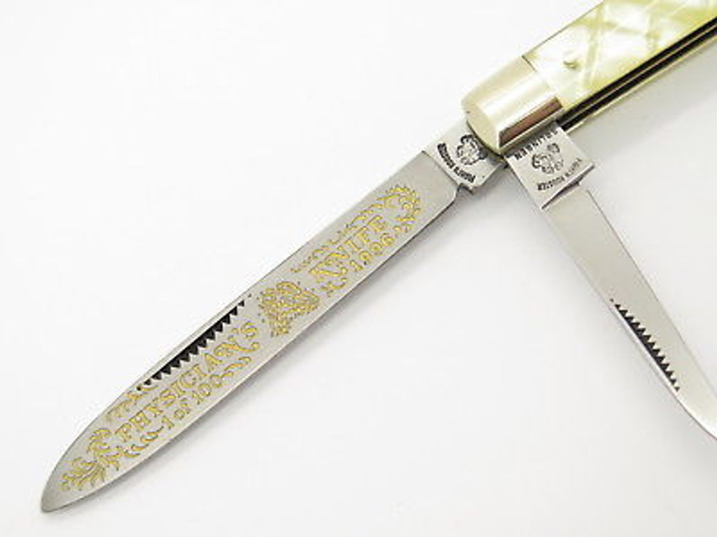 1996 LIMITED 7/15 FIGHT'N ROOSTER FRANK BUSTER CELLULOID DOCTOR FOLDING KNIFE