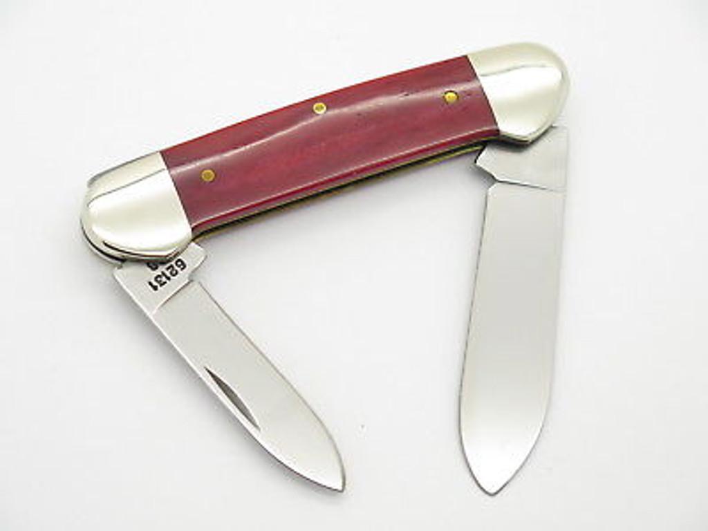 1999 CASE XX 62131 LIMITED SMOOTH RED BONE CANOE FOLDING POCKET KNIFE
