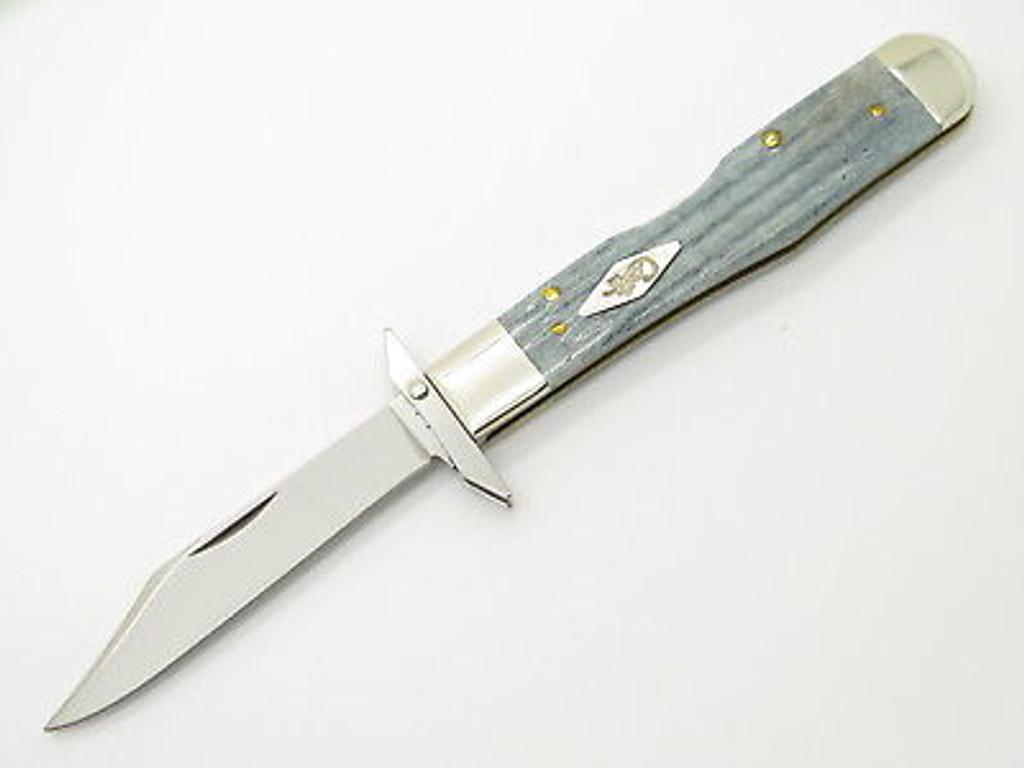 2005 CASE XX 6111 1/2 CHEETAH GRAY BONE SWING GUARD FOLDING POCKET KNIFE