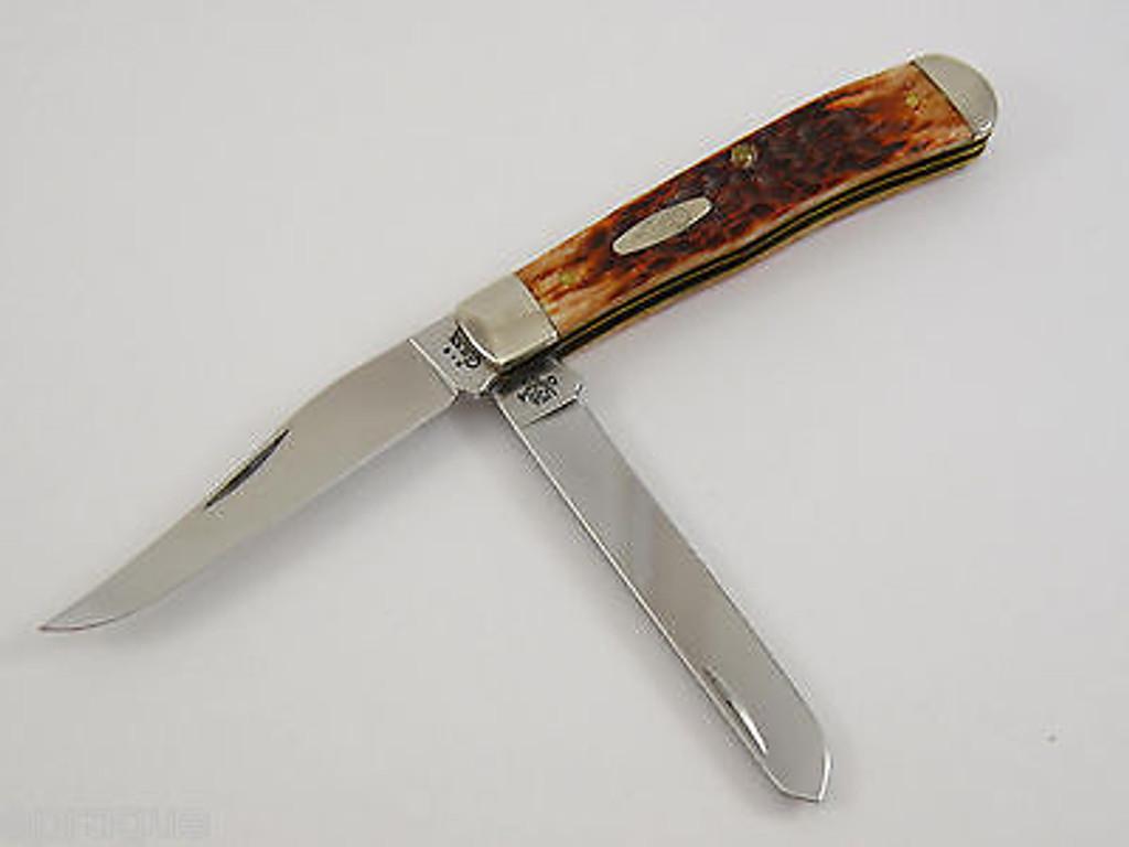 2003 CASE XX 6254 #03745 CHESTNUT TRAPPER FOLDING POCKET KNIFE LIMITED