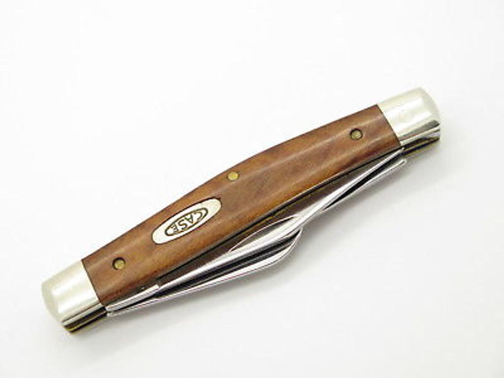 1989 CASE XX 7344 STOCKMAN FOLDING POCKET KNIFE CURLY MAPLE HANDLE