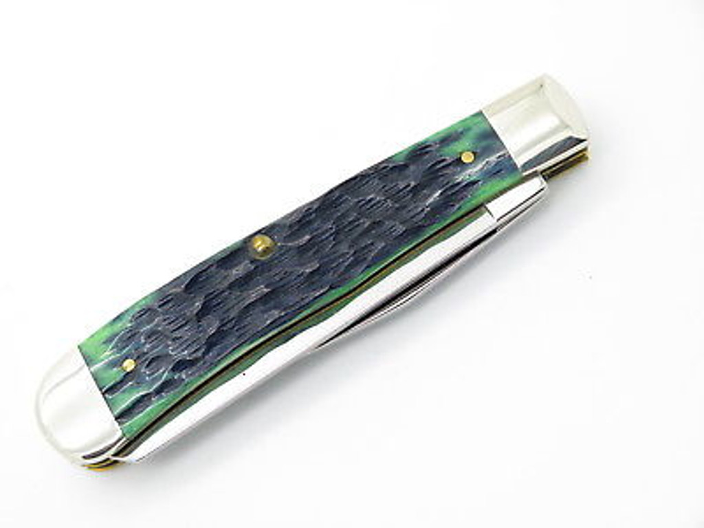 2006 CASE XX 6254 PRETTY GRASS GREEN TRAPPER FOLDING POCKET KNIFE