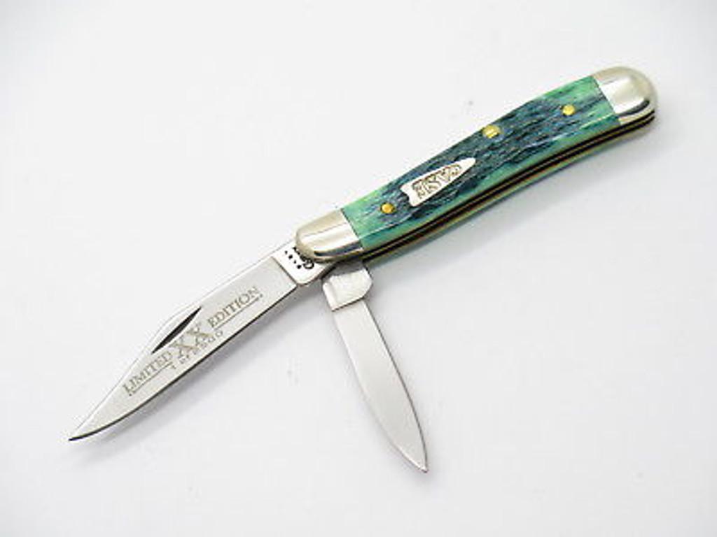 2001 LIMITED CASE XX 6220 BLUEGRASS PEANUT FOLDING POCKET KNIFE