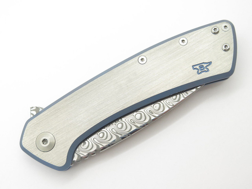 BUCK 040 0040TTSLE ONSET DAMASCUS TITANIUM FRAMELOCK FOLDER KNIFE LIMITED