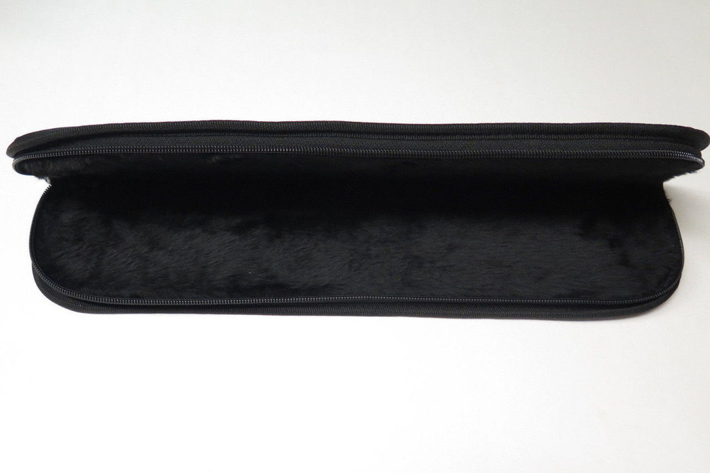 "17"" PADDED ZIP UP FOLDING CUSTOM FIXED BLADE KNIFE STORAGE CASE POUCH SHEATH NEW"