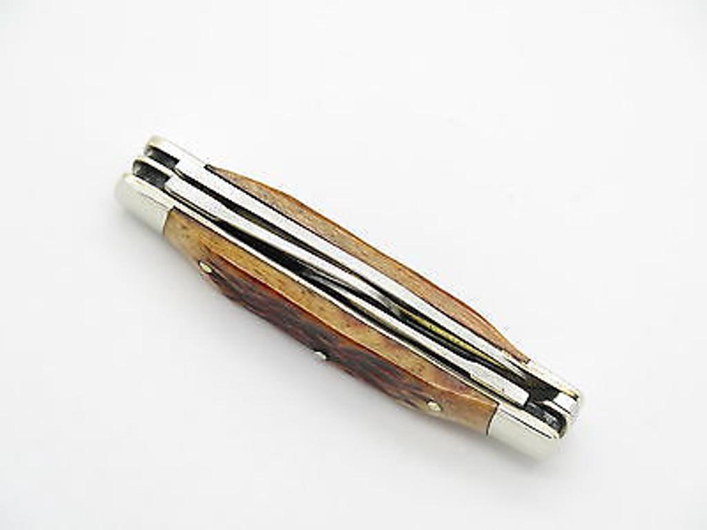 BROWNING 341 IMAI SEKI JAPAN AUS-8A BONE FOLDING STOCKMAN POCKET KNIFE