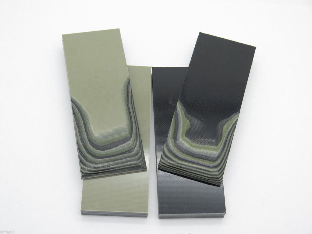4 pcs G10 1/4 BLACK TAN GREEN SCALE SLAB KNIFE MAKING HANDLE MATERIAL BLANK