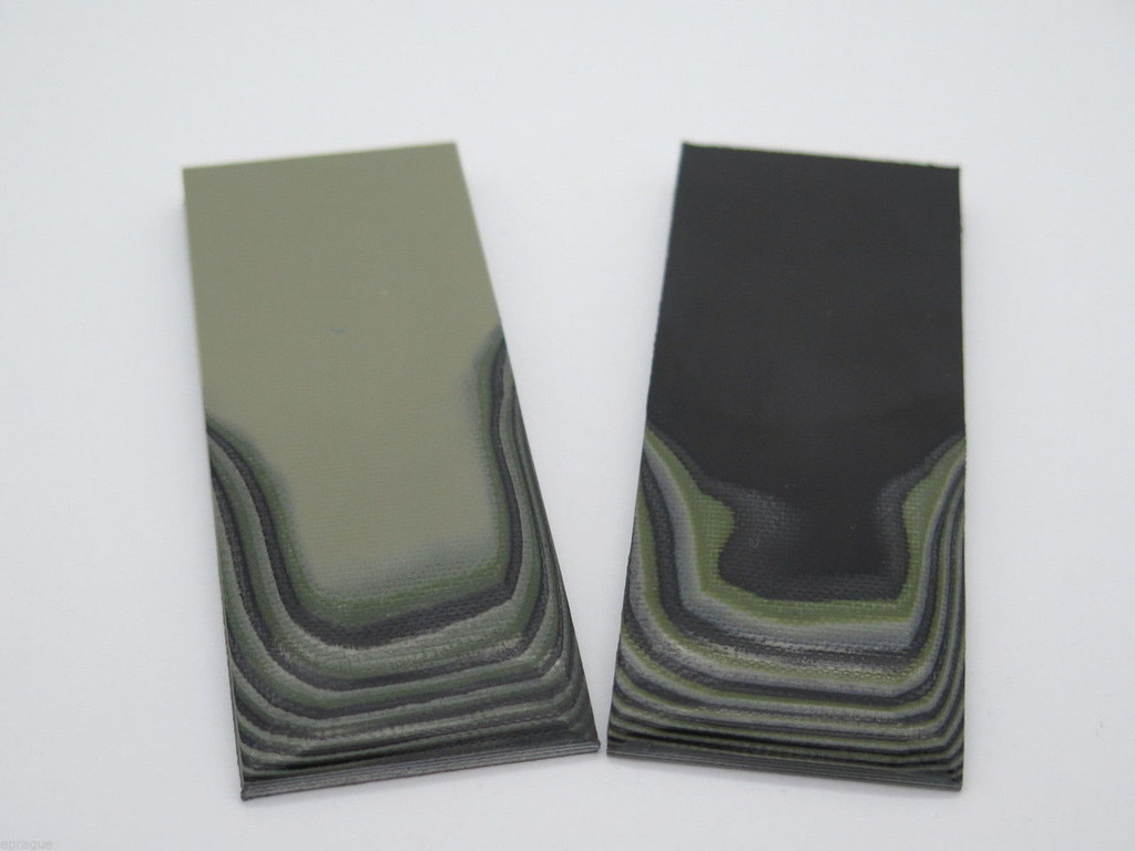 4 pcs G10 1/4 BLACK TAN GREEN SCALE SLAB KNIFE MAKING HANDLE MATERIAL BLANK