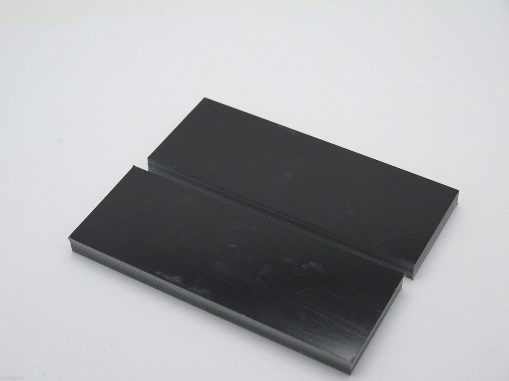 2 pcs G10 1/4 BLACK TAN GREEN SCALE SLAB KNIFE MAKING HANDLE MATERIAL BLANK