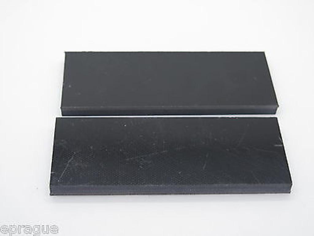 "4 pcs BLACK G10 1/4 SCALE SLAB KNIFE MAKING HANDLE MATERIAL BLANK 4"" LONG"