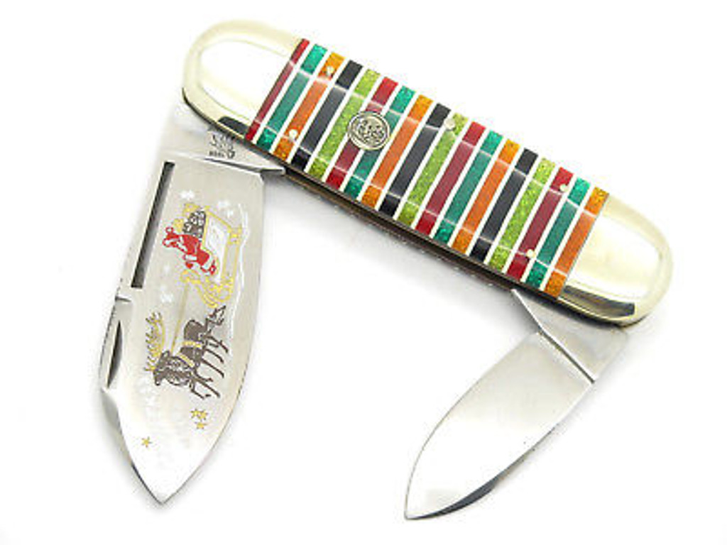 1996 BULLDOG BRAND CHRISTMAS SANTA SLEIGH ELEPHANT TOENAIL SUNFISH KNIFE