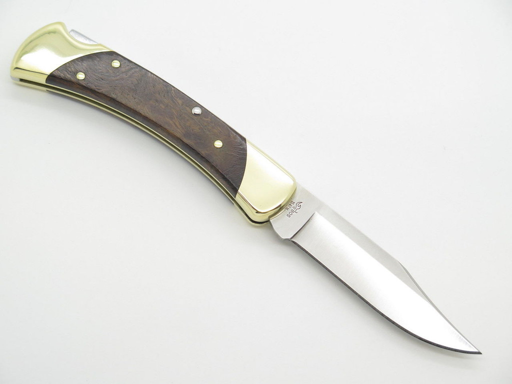 BUCK 111 111BOLC FOLDING HUNTER LOCKBACK KNIFE CUSTOM LIMITED IRONWOOD 154CM 110