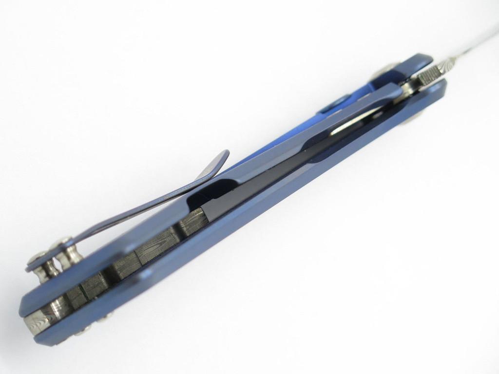 BUCK 040 0040TTSLE ONSET DAMASCUS TITANIUM FRAMELOCK FOLDER KNIFE LIMITED CUSTOM