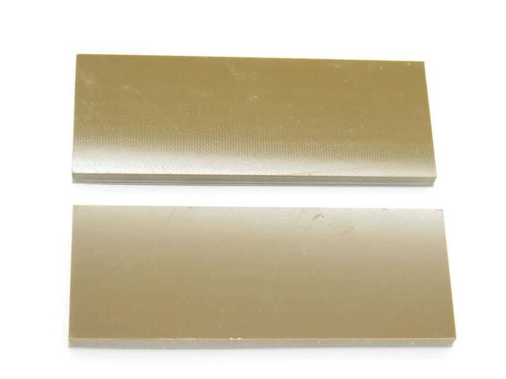 2 pcs G10 1/4 BROWN SCALE SLAB KNIFE MAKING HANDLE MATERIAL CUSTOM BLANK
