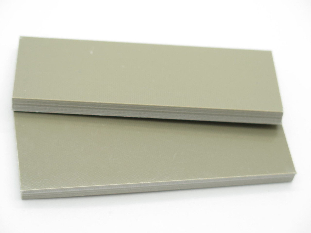 2 pcs G10 1/4 COYOTE TAN SCALE SLAB KNIFE MAKING HANDLE MATERIAL BLANK