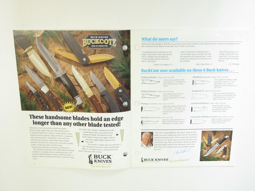 1997 BUCK DEALER KNIFE CATALOG PRICE LIST BOOK FIXED FOLDING 110 124 119 184