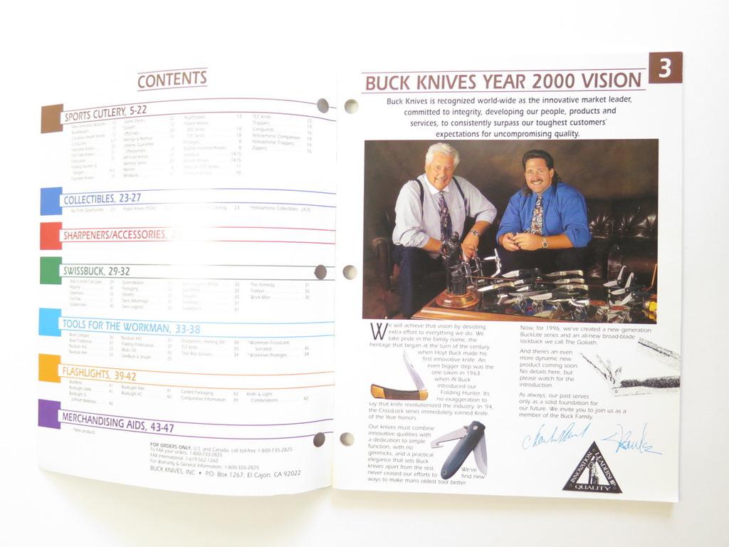 1996 BUCK DEALER KNIFE CATALOG PRICE LIST BOOK FIXED FOLDING 110 124 119 184