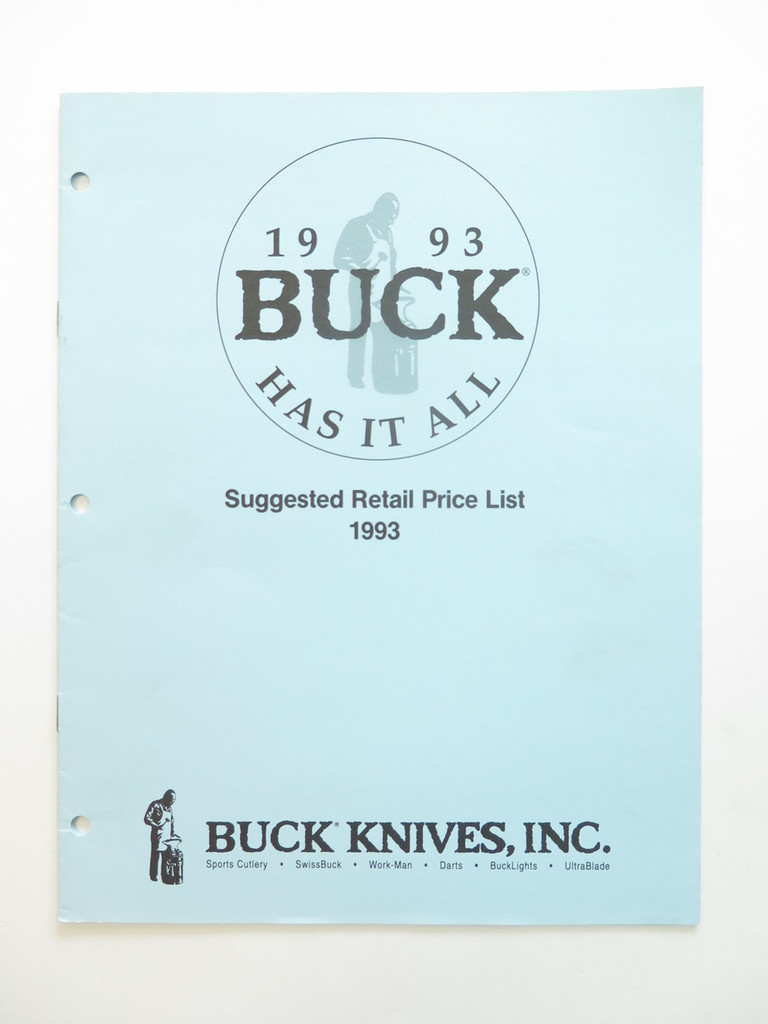1993 BUCK DEALER KNIFE CATALOG PRICE LIST BOOK FIXED FOLDING 110 124 119 184