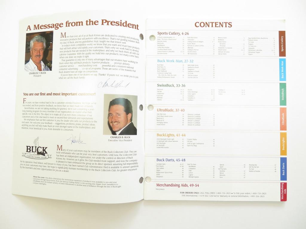 1993 BUCK DEALER KNIFE CATALOG BROCHURE BOOK FIXED FOLDING 110 124 119 184