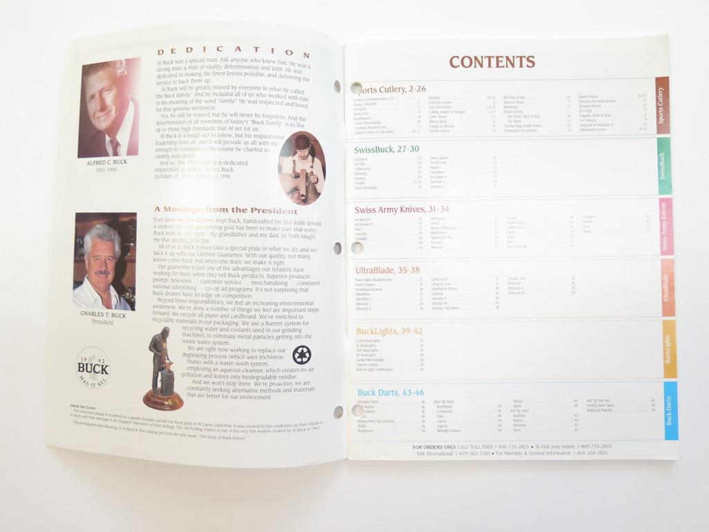 1992 BUCK DEALER KNIFE CATALOG PRICE LIST BOOK FIXED FOLDING 110 124 119 184