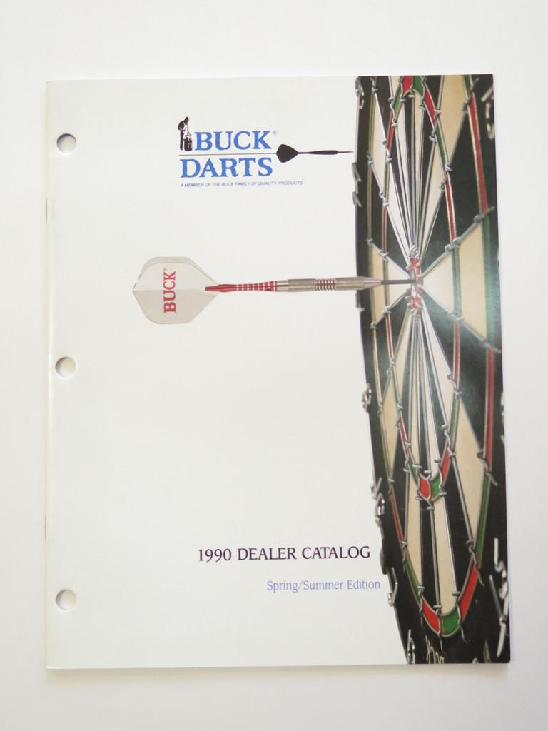 1990 BUCK KNIVES DEALER DART CATALOG BOOK FIXED FOLDING 110 124 119 184